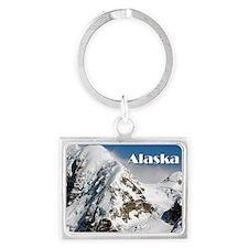 Alaska Range mountains, Alaska, Landscape Keychain