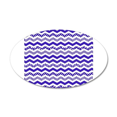 Navy Blue Chevron with a twist Wall Sticker