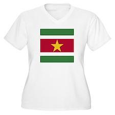 Flag of Suriname Plus Size T-Shirt