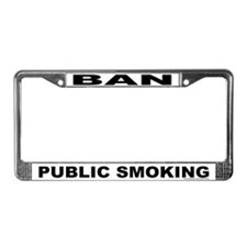 License Plate Frame: Ban Public Smoking