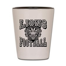 Lions Football Shot Glass