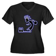 Cute Activewear Women's Plus Size V-Neck Dark T-Shirt