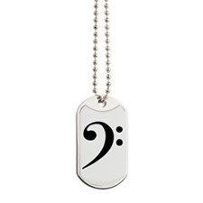 Bass Clef Dog Tags