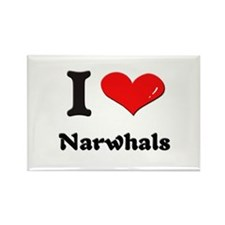 I love narwhals Rectangle Magnet