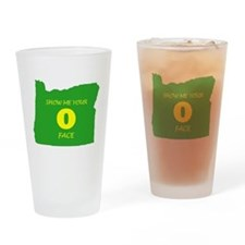 "Oregon ""O"" Face Drinking Glass"