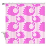Hot Pink Swans Shower Curtain