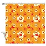 Yellow And Gold Hibiscus Shower Curtain