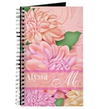 Coral Lavender Hydrangea Personalized Journal