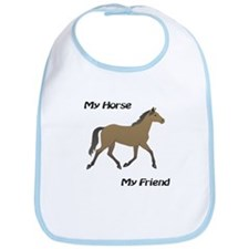 Horse Baby Bib: My Horse My Friend (brown)