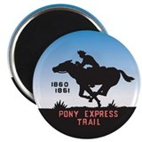"The Pony Express 2.25"" Magnet (100 pack)"