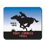 The Pony Express Mousepad
