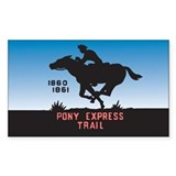 The Pony Express Rectangle Decal