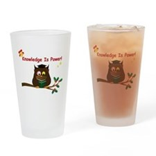 Wise Owl for Christmas Drinking Glass