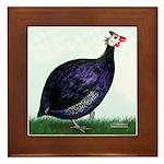 Royal Purple Guineafowl Framed Tile