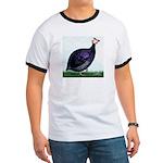 Royal Purple Guineafowl Ringer T