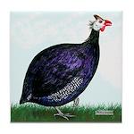 Royal Purple Guineafowl Tile Coaster