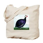 Royal Purple Guineafowl Tote Bag