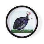 Royal Purple Guineafowl Wall Clock