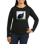 Royal Purple Guineafowl Women's Long Sleeve Dark T