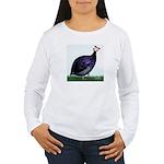 Royal Purple Guineafowl Women's Long Sleeve T-Shir