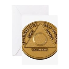 Alcoholics Anonymous Anniversary Chip Greeting Car