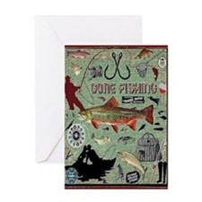 Gone Fishing Card Greeting Cards