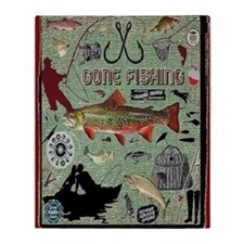 Gone Fishing Throw Blanket