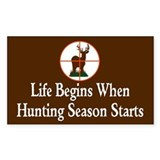 Hunting Season Rectangle Decal