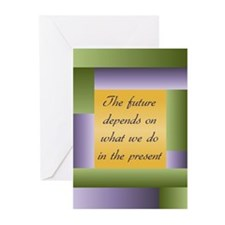 Ghandi quote Greeting Cards (Pk of 10)