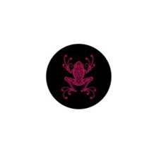 Intricate Pink and Black Tribal Tree Frog Mini But