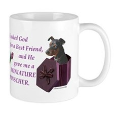 I Asked God -Calendar -MinPin,BlkTanNat Mugs