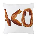 Bacon in the Shade of Bacon Woven Throw Pillow