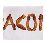 Bacon in the Shade of Bacon Throw Blanket