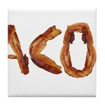 Bacon in the Shade of Bacon Tile Coaster