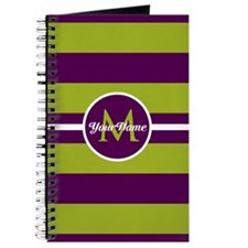 Bold Stripe Monogram Journal