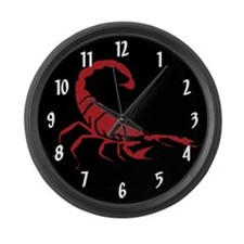 Red Scorpion Large Wall Clock