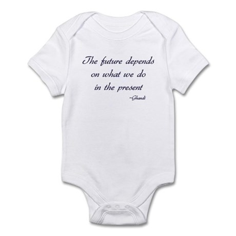 Ghandi quote Infant Bodysuit