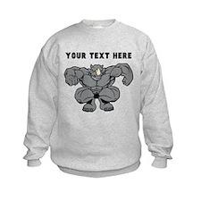 Custom Rhino Mascot Stomp Sweatshirt