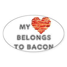 My heart belongs to bacon Decal