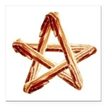 Bacon Star Square Car Magnet 3