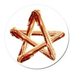 Bacon Star Round Car Magnet