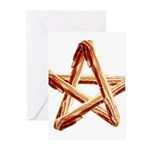 Bacon Star Greeting Cards