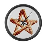 Bacon Star Large Wall Clock
