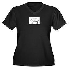 Pig Diagram Plus Size T-Shirt