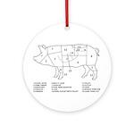 Pig Parts Ornament (Round)