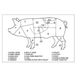 Pig Parts Posters