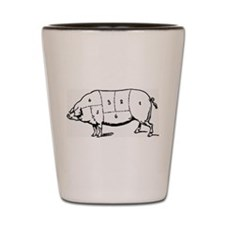 Pig Parts in Numbers Shot Glass
