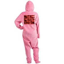 Bacon weave Footed Pajamas