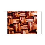 Bacon weave Rectangle Car Magnet