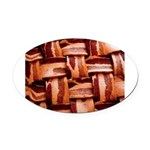 Bacon weave Oval Car Magnet